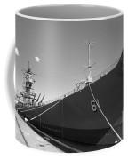 Uss Iowa Battleship Starboard Side Bw Coffee Mug