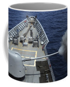 Uss Philippine Sea Fires Its Mk 45 Coffee Mug by Stocktrek Images