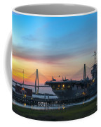 Uss Yorktown Sunset Coffee Mug