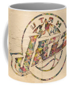 Utah Jazz Poster Art Coffee Mug by Florian Rodarte