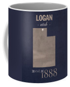 Utah State University Aggies Logan College Town State Map Poster Series No 117 Coffee Mug