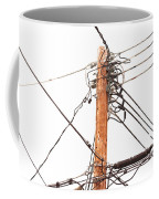 Utility Pole Hung With Electricity Power Cables Coffee Mug