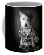 Vacation Dog With Camera And Hawaiian Shirt Coffee Mug