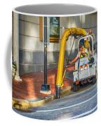 Vacuuming The Sidewalk Coffee Mug