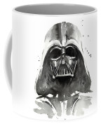 Darth Vader Watercolor Coffee Mug by Olga Shvartsur