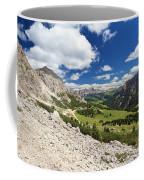 Val Badia From Gardena Pass Coffee Mug