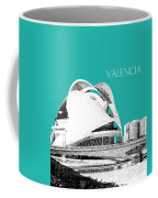 Valencia Skyline City Of Arts And Sciences - Aqua Coffee Mug