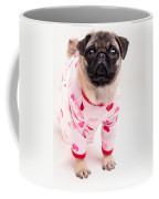 Valentine's Day - Adorable Pug Puppy In Pajamas Coffee Mug