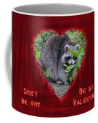 Valentine's Day Greeting Card - Raccoon Coffee Mug