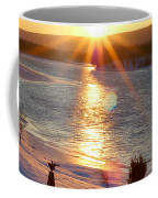 Valentines Day Snowstorm Sunset Coffee Mug
