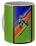 Valentino Rossi Wheely Down The Blue Red And Green Coffee Mug