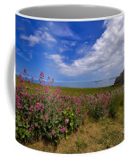 Valerian By A Stone Wall On The Northumberland Coast Coffee Mug