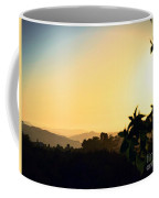 Valley Center Sunset Digital Paint Effect Coffee Mug