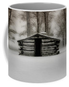 Valley Forge Cabin In Winter Coffee Mug