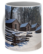 Valley Forge Cabins After A Snow Coffee Mug