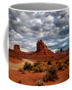 Valley Of The Gods Stormy Clouds Coffee Mug by Robert Bales