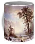 Valley Of The Yosemite Snow Fall Coffee Mug