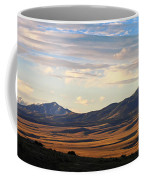 Valley Shadows Snowy Peaks Coffee Mug
