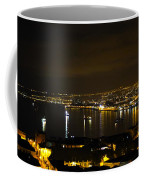 Valparaiso Harbor At Night Coffee Mug
