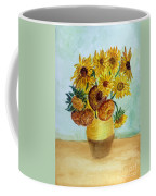 van Gogh Sunflowers in watercolor Coffee Mug