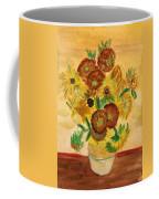 van Gogh's Sunflowers in Watercolor Coffee Mug