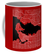 Vancouver Street Map - Vancouver Canada Road Map Art On Color Coffee Mug