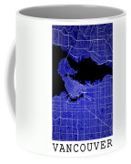Vancouver Street Map - Vancouver Canada Road Map Art On Colored  Coffee Mug