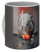 Vanitas Still Life By Candlelight With Clementines 1 Coffee Mug