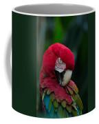 Vanity-close Up Of A Green Winged Macaw Coffee Mug