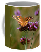 Variegated Fritillary Butterfly Square Coffee Mug