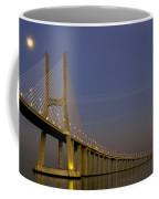Vasco Da Gama Bridge In The Moonlight Coffee Mug