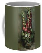 Vase Of Hollyhocks Coffee Mug
