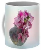 Vase Of Pretty Pink Sweet Peas 2 Coffee Mug