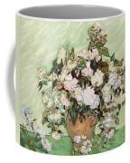 Vase With Pink Roses Coffee Mug
