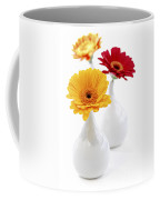 Vases With Gerbera Flowers Coffee Mug
