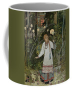 Vassilissa In The Forest Coffee Mug by Ivan Bilibin