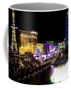 Vegas At Night Coffee Mug by Barbara Chichester