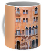 Venetian Building Wall With Windows Architectural Texture Coffee Mug