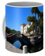 Venetian Style Bridge And Villa In Miami Coffee Mug