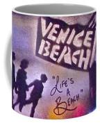 Venice Beach To Santa Monica Pier Coffee Mug