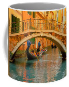 Venice Boat Bridge Oil On Canvas Coffee Mug