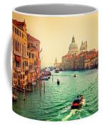 Venice Italy Grand Canal And Basilica Santa Maria Della Salute At Sunset Coffee Mug