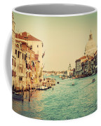 Venice Italy  Grand Canal In Vintage Style Coffee Mug