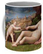 Venus And Cupid Coffee Mug