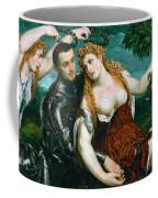 Venus Mars And Cupid Crowned By Victory Coffee Mug