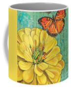 Verdigris Floral 2 Coffee Mug by Debbie DeWitt