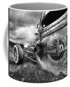 Vermin's Diner Rat Rod In Black And White Coffee Mug