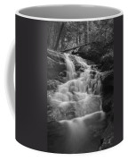 Vermont Forest Waterfall Black And White Coffee Mug