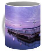 Vermont Lake Champlain Sunrise Clouds Fishing Pier Coffee Mug