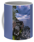 Vermont Lake Champlain Sunset Clouds Shoreline Coffee Mug